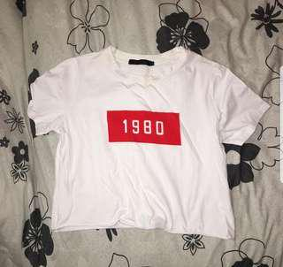 1980 cropped tee