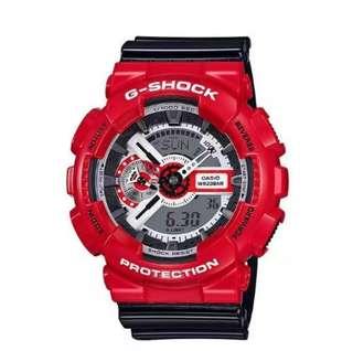 Casio G Shock Men's Watch Red Strap