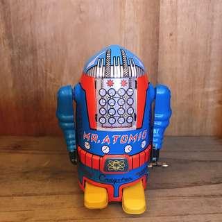 早期收藏 日本製 鐵皮 發條 功能正常 機器人 / 機械人 / 鐵皮玩具 / 發條玩具