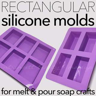 Rectangular Bar Soap Silicone Molds | DIY Melt n Pour Soap-making Crafts | Multiple Cavity Mold