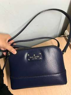kate spade 斜孭袋 (navy colour)