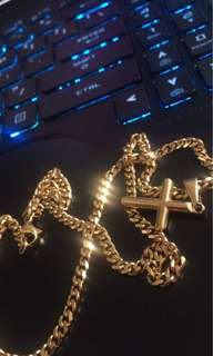 Cross gold chains