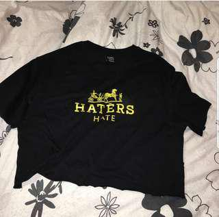 haters hate cropped tee