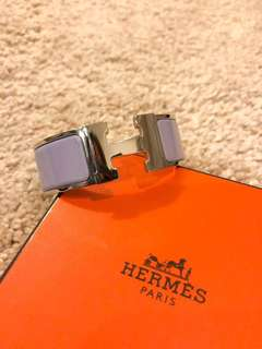 Authentic Hermes Clic Clac H Bracelet in Parme - PM size