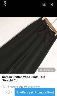 (Clearance) Korean Style Wide Pants
