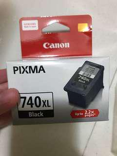 Authentic brand new Canon 740XL ink black
