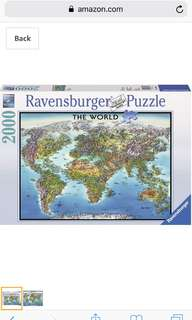 Ravensburger World Map Jigsaw Puzzle (2000 pieces)