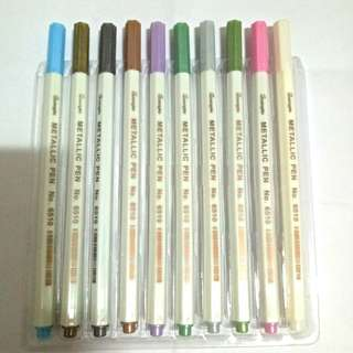 Craft metallic color pen