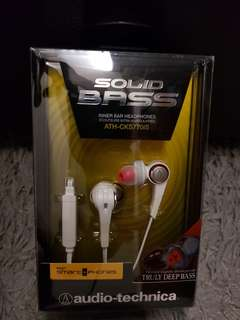 AUDIO TECHNICA ATH CKS 770iS SOLIDBASS EARPHONES WITH MICROPHONE