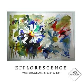 """Watercolor Painting- """"Efflorescence"""""""