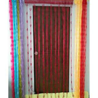 Butterfly Line Shaped Door Window Room Tassel Curtains