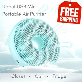 FREE COURIER DELIVERY! Rechargeable Battery Powered Air Purifier. 6 Colours! Black/Blue/Green/Pink/White/Yellow. Portable and compact. Can use for car, office desk, fridge, wardrobe. Best Gift & Present option. LIMITED TIME SPECIAL PRICE!