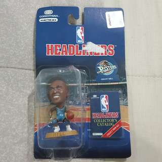 "Legit Brand New Sealed NBA Headliners Corinthian Grant Hill Detroit Pistons 3.5"" Toy Figure"