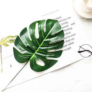 3PCS artificial Monstera Leaves