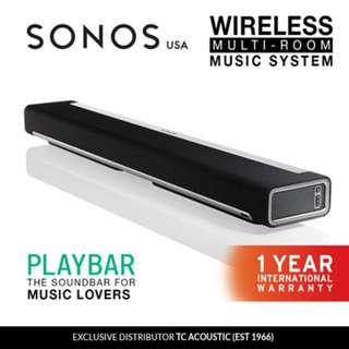 Sonos Playbar Wireless Soundbar (Exclusive Distributor 1 Year International Warranty)