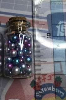 Rainbow pearls for nail art or crafts