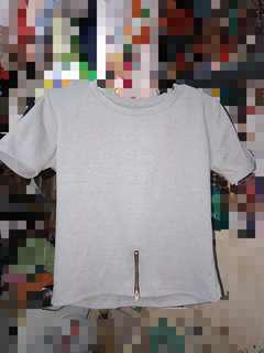 Gray Top w/ Zipper