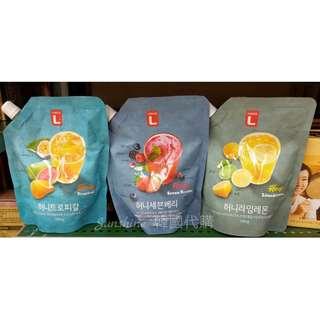 限量現貨 韓國 Choice L  蜂蜜濃縮果汁 蜂蜜檸檬萊姆 蜂蜜熱帶水果 家庭號
