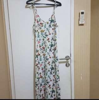 Pull n bear long floral dress
