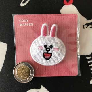 📮包平郵🆕LINE FRIENDS Cony embroidery brooch 刺繡胸針