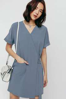 Love, Bonito DRESS. Hrenda Crossover Pocket Shift Dress