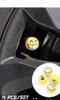 Car tyre valve cap set