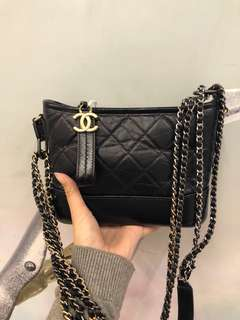 Chanel Gabrielle hobo bag small navy