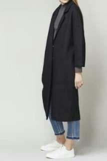 Long coat long blazer korea formal casual black