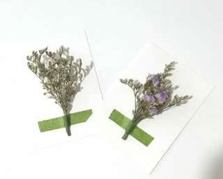 🚚 Dried Flowers Card | Dried Caspia | Dried Pink Baby's Breath | Dried Purple Statice | Dried Lavender