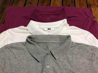 Uniqlo bundle - 3 polo shirts (women)