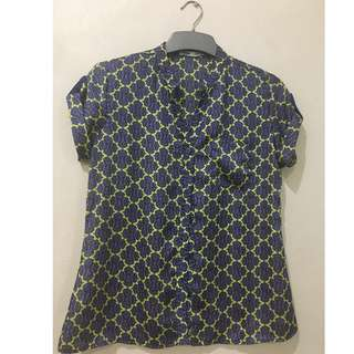 Floral Office Blouse by Shapes