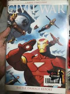 Civil war battle damage report comic book