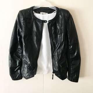 Black Leatherette Jacket