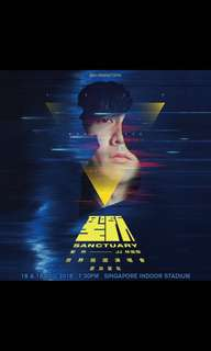 JJ Lin Concert - Two tickets CAT 8 (restricted view)