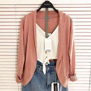 outer cardi dusty pink