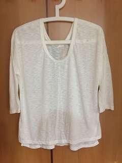 🚚 全新Sammy Korea~ 白色薄款七分袖上衣