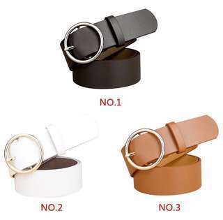 Leather Buckle Belt | White, Black and Brown | instagram: @clothingvibes.ph | READ CAPTION! | REPRICED, PRICE DOWN