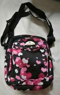Pink Hearts Sling Bag