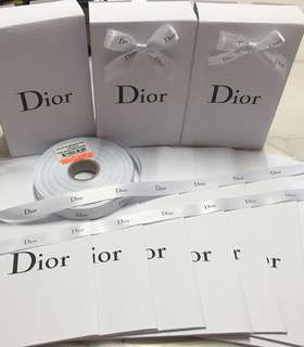 Dior gift boxes