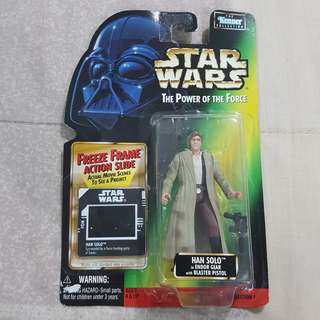 Legit Brand New Sealed Kenner Star Wars Han Solo In Endor Gear With Blaster Pistol Toy Figure