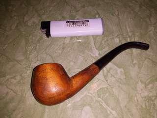 Pipa rokok.bahan kayu dan tanduk