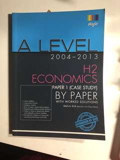 H2 Economics Paper 1 Yearly Edition