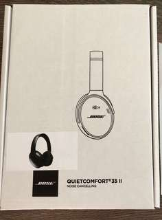 Unopened Newly Refurbished Bose QuietComfort 35 II (QC35 II) - Black