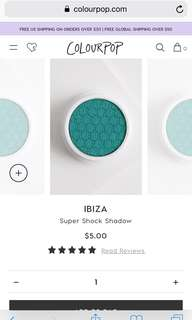 🚚 Colourpop Super shock shadow Ibiza