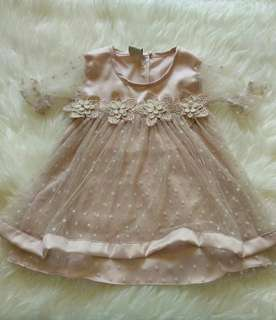Flowers party dress baby