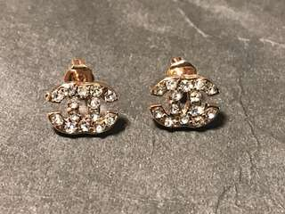 Brand New Rose Gold Chanel Earrings!
