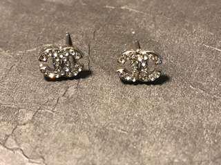 Brand New Beautiful Silver Chanel Earrings