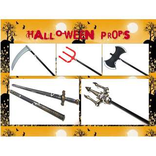 < CATZ> Halloween Props Halloween Party Spade Party Sword Party Axe Party Sickle Party Accessories