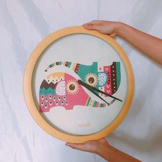 Elephant Design Wall Clock