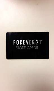 FOREVER 21 50$ STORE CREDIT